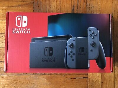 Nintendo Switch Console Gray Joy-Con V2 Grey *Newest Model* IN HAND!