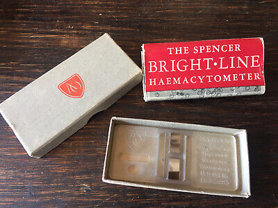 Vintage Ao American Optical Spencer Bright-line Hemacytometer Counting Chamber