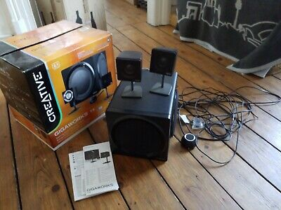 CREATIVE GIGAWORKS T3 PC/Mac/MP3/TV Speaker System Lautsprecher SLAM Subwoofer