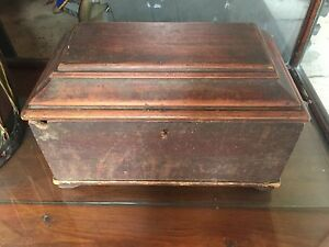 Small Primitive Pine Chest 200 Years Old