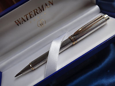 WATERMAN LE MAN STERLING SILVER BALLPOINT PEN NEW IN BOX