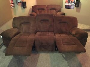 Declining sofa and love seat furniture