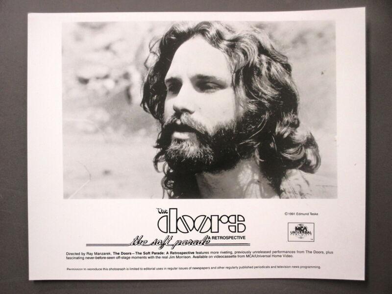 The Doors Jim Morrison promo photo 8 X 10 black & white glossy ORIGINAL 1991 !