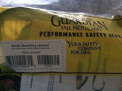 Guardian 01231x 6 Shock Absorbdouble Leg Lanyard Wrebar Hooks Snap Hook