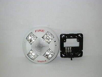 Est Edwards Gcav Fire Alarm Ceiling Horn Strobe Gcavwf