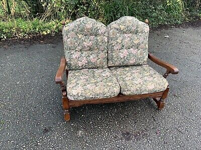 Old Charm Woods Bros Solid Oak Country Cottage Sofa Settee