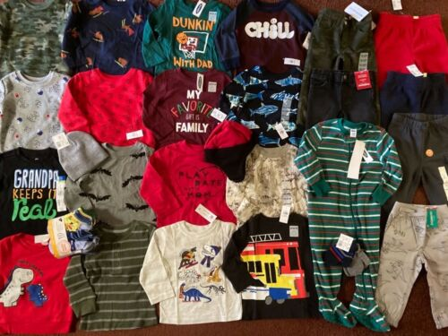 38Pc. Baby Boys 18 24 Months FALL WINTER Clothing Lot Outfits Old Navy TCP NEW