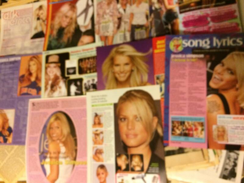 Jessica Simpson, Lot of TEN Full Page Clippings