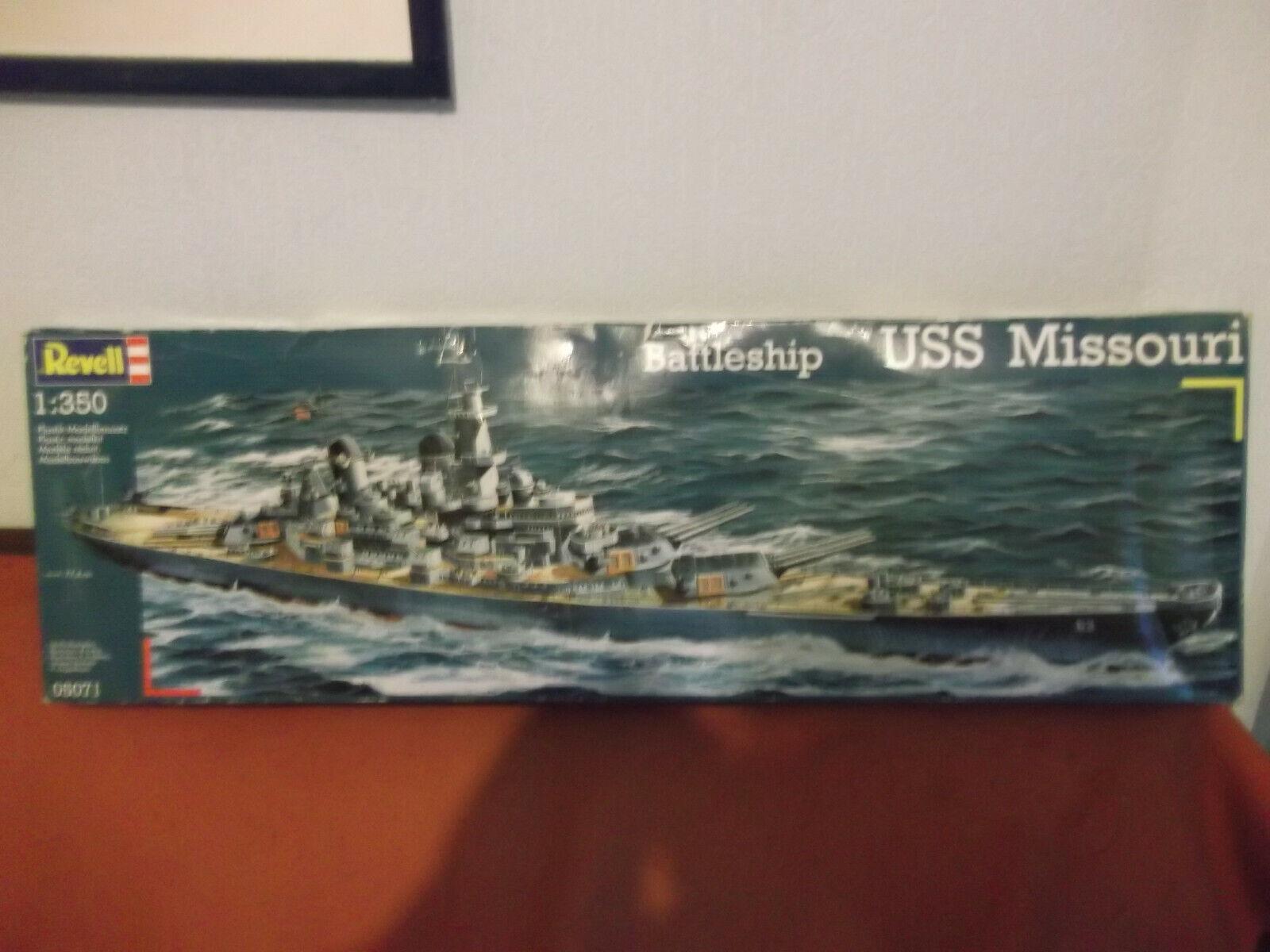 """Revell 05071 Schlachtschiff BB - 63 USS """"Missouri"""" Zustand 1945 1:350"""