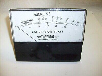 Vintage Thermal Engineering Microns Calibration Scale Panel Meter - Atmosphere