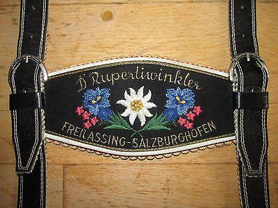 BÄRIGE D´RUPERTIWINKLER FREILASSING-SALZBURGHOFEN LEDERHOSEN-TRÄGER,TOP ZUSTAND