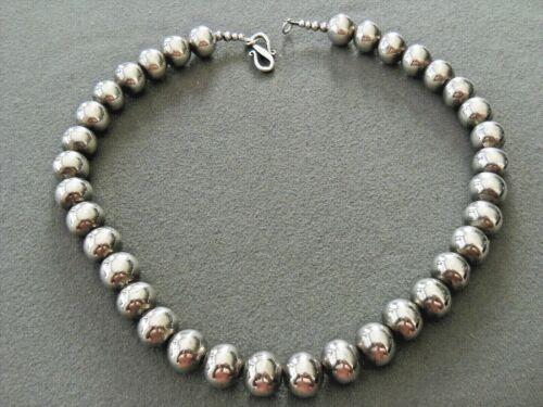 Southwestern Sterling Silver Round Uniform Bead Necklace / Choker