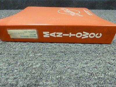 Manitowoc Model M-250 Lattice Boom Crawler Crane Parts Catalog Manual Book