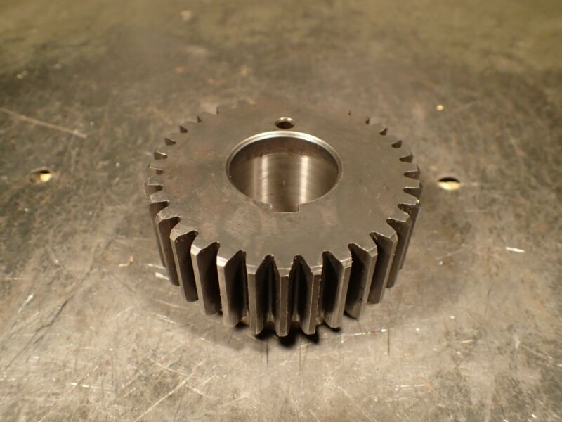 "TS1232 12DP 32-Tooth Lathe Change Spur Gear: 1-1/8"" Keyed Bore 2-7/8"" OD 1"" Face"