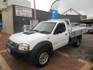 2008 NISSAN NAVARA 4X4 DX 2.5LITRE DIESEL TURBO 5 SPD TRAY/TOP