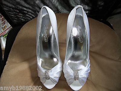 Туфли Michaelangelo Diana White W/Rhinestones Shoes