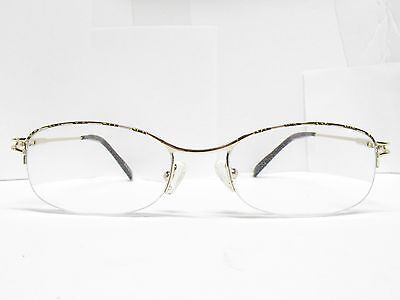 Authentic ZENNI Semi-rimless EYEGLASSES Eyewear FRAMES gold 53-18-143 TV6 93552