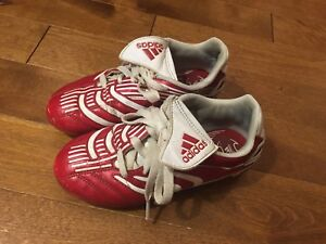 Adidas size 1 kids soccer cleats