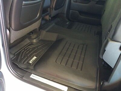2nd Row Sure-Fit Floor Mats: 2014-2018 Chevy Silverado 1500 Crew Cab
