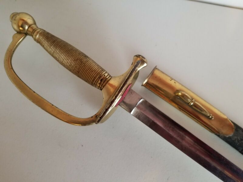 US Civil War Horster Solingen Model 1840 NCO Sword w/Scabbard