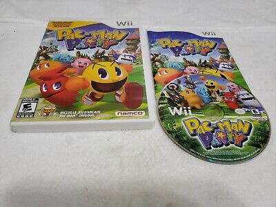 Pac-Man Party (Nintendo Wii Wii U) ARCADE GAME COMPLETE w/MANUAL PACMAN FREESHIP