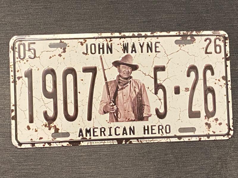 John Wayne Metal License Plate The Duke The Original American Hero 1907 Cowboy
