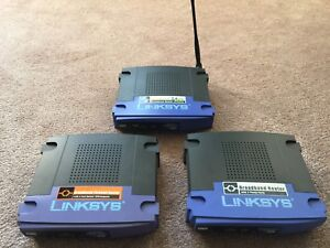 Various Linksys broadband routers
