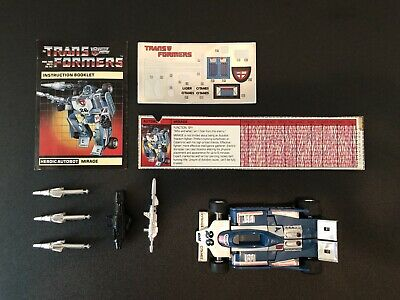 transformers g1 mirage complete 1984 Takara Hasbro parts vintage robot Japan