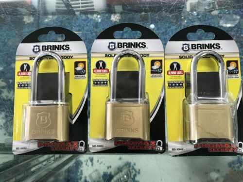 "3 BRINKS SOLID BRASS BODY 2"" RESETTABLE COMBINATION LOCKS"