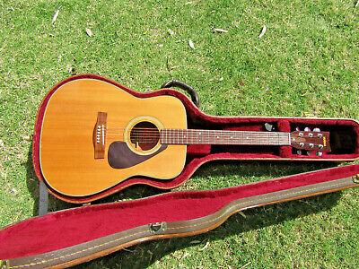 Yamaha Fg-180 Red Label Acoustic Guitar 1970 Nippon Gakki with Yamaha Hard Case
