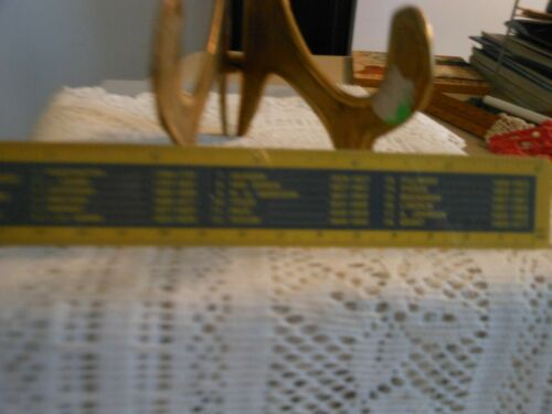 c1963 6 Inch Ruler:  Presidents of the U.S. (Name and Term) Flexible Plastic