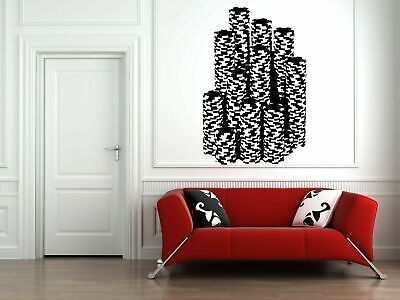 Wall Vinyl Sticker Decal Decor Room Design Casino Poker Chips Game Play bo2088