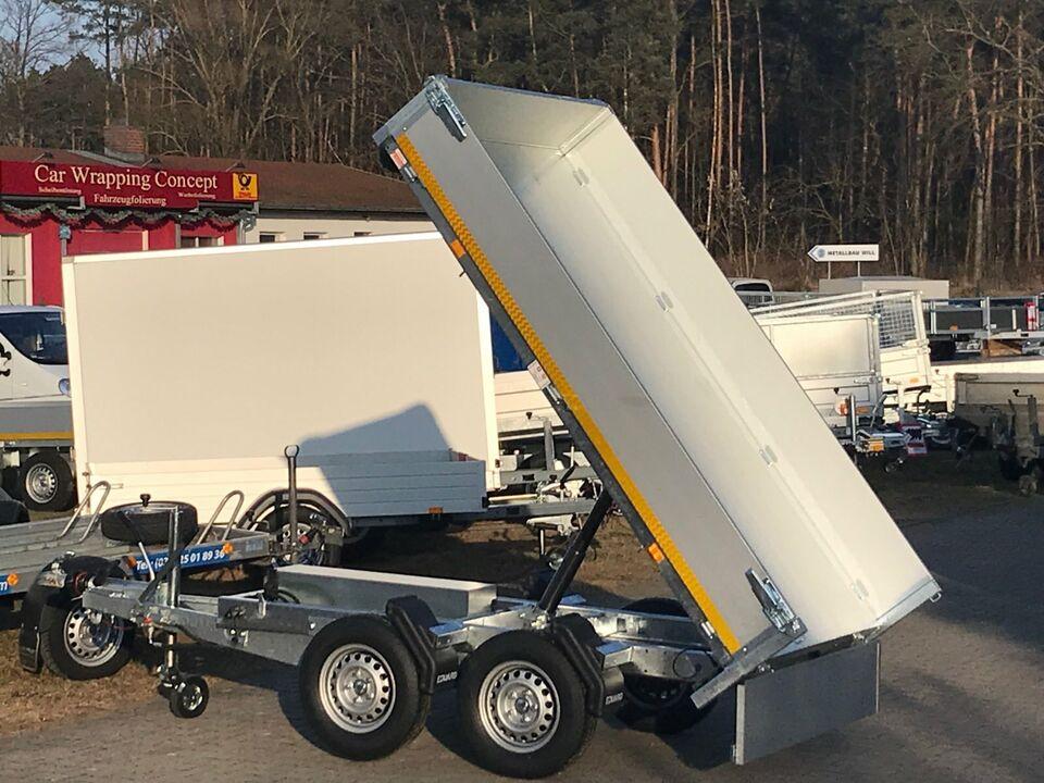 ⭐ Anhänger Eduard e-Kipper 2700 kg 256x150x30 cm + Handpumpe 72 in Schöneiche bei Berlin