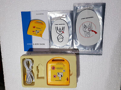 Mini Aed Trainer Adult And Paediaric Pads Wire Connector Portable Lab Equipment.