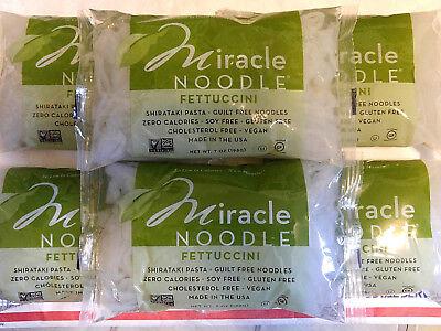 (6 Pack of Fettuccini) Miracle Noodle Zero Carb Gluten Free Shirataki Pasta -