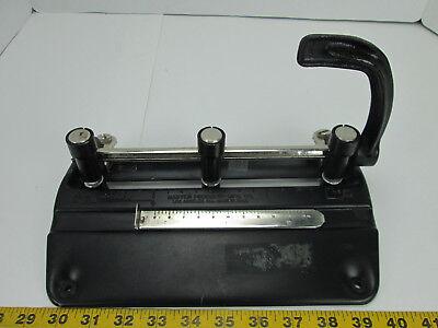 Vintage Adjustable 3 Hole Punch 05-98 Master Products 5340b Cast Iron Sku B Tcs