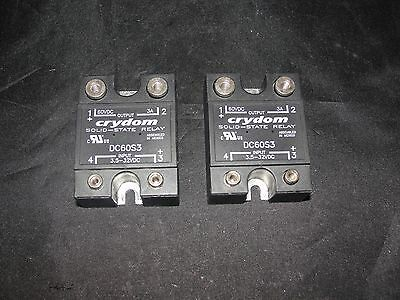 Crydom Dc60s3 Solid State Relay Lot Of 2