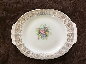 Limoges 22 karat gold-edged platter PRICE REDUCED