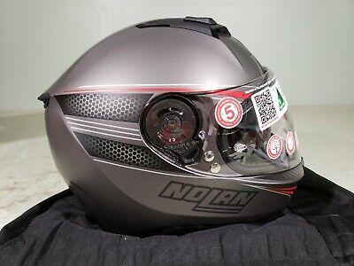 Nolan Helmet N87 Rapid-N-COM Flat Lava Grey/Red Small NL0151 (Gray N-com Helmet)