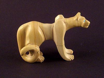 Hiram Peynetsa-Jasper Mountain Lion-Zuni Fetish-Native American-Stone Carving