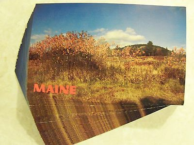 IDENTICAL POSTCARD LOT 25! MAINE, BLUE HILL AUTUMN, ME! INVITATIONS CRAFTS PC #3