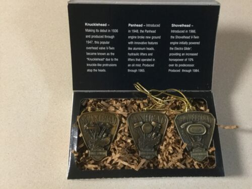 NIB HARLEY DAVIDSON ORNAMENTS 2000 HANG SOME HEAVY METAL