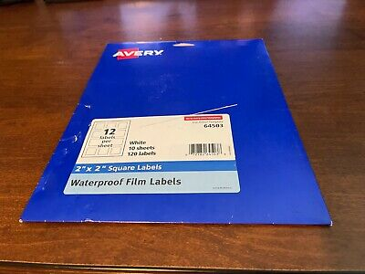 Avery Oil Resistant Waterproof Labels Print To The Edge Smudge Proof 8 Sheet