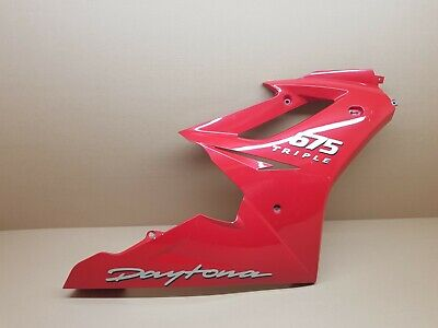 TRIUMPH DAYTONA 675 RIGHT MAIN SIDE FAIRING PANEL  RED  OEM FITS 20