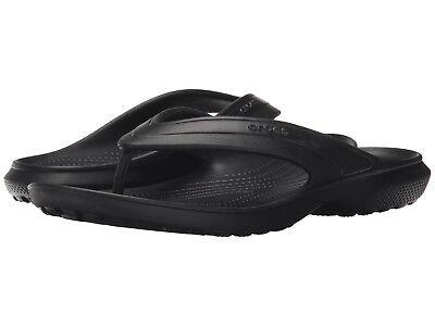 Men Crocs Classic Flip Flop Sandal 202635-001 Black 100% Authentic Brand New ()