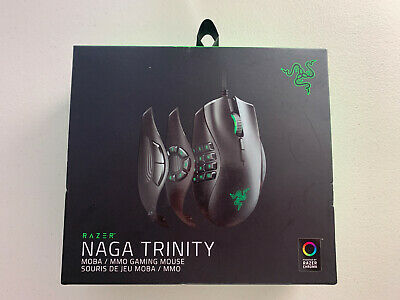 Used, Razer Naga Trinity MOBA/MMO Wired Gaming Mouse (RZ01-02410100-R3U1) - NEW for sale  Shipping to South Africa