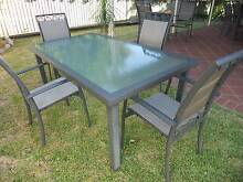 5 Piece Tempered glass Aluminium Outdoor Dining setting Murrumba Downs Pine Rivers Area Preview