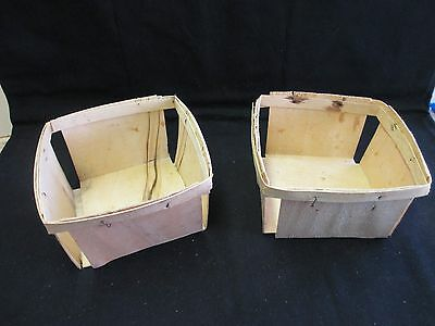 Vintage Wooden Strawberry Baskets- 5.5