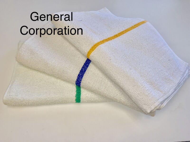 60 5 dozen new gold striped bar towels bar mops cotton super absorbent 16x19