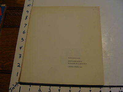 Vintage Art Book Catalog  Deutsche Kunst Meisterwerke 1953 Missing Cover